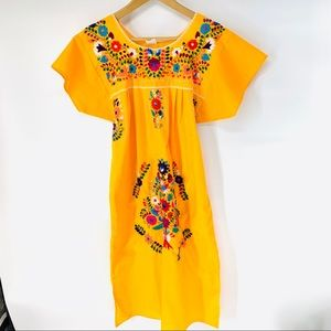 Mexican Embroidered Wedding Dress